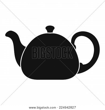 Ceramic teapot icon. Simple illustration of ceramic teapot vector icon for web