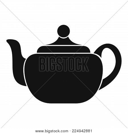 Small teapot icon. Simple illustration of small teapot vector icon for web