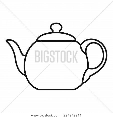 Big teapot icon. Outline illustration of big teapot vector icon for web