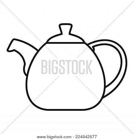 Pot bellied kettle icon. Outline illustration of pot bellied kettle vector icon for web