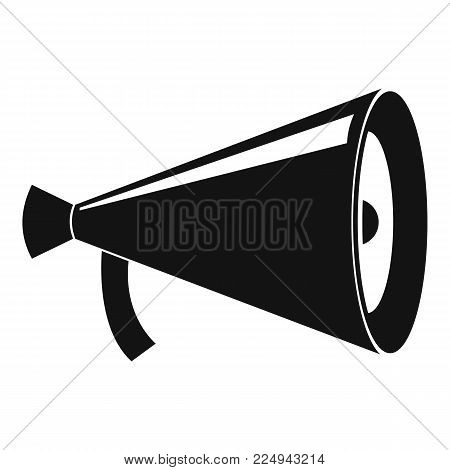 Megaphone with handle icon. Simple illustration of megaphone with handle vector icon for web
