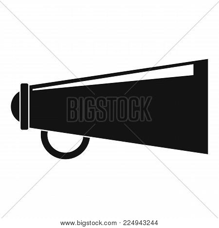 Loudspeaker icon. Simple illustration of loudspeaker vector icon for web