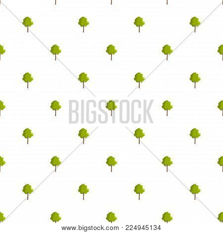 Hornbeam tree pattern seamless in flat style for any design