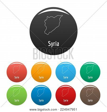 Syria map thin line. Simple illustration of Syria map vector isolated on white background