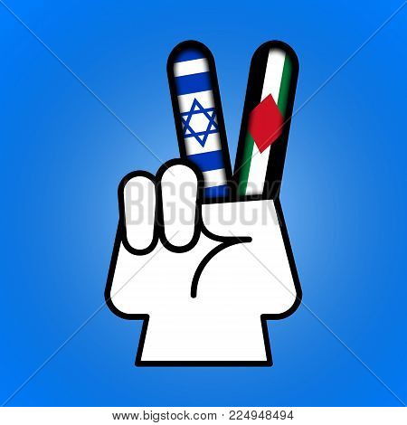 Illustration idea showing peace is possible between Israel and Palestine.
