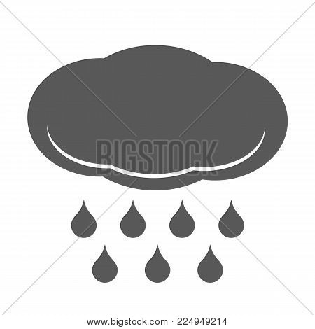 Cloud rain icon. Simple black illustration of cloud rain vector icon isolated on white background