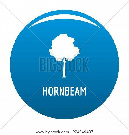 Hornbeam tree icon vector blue circle isolated on white background