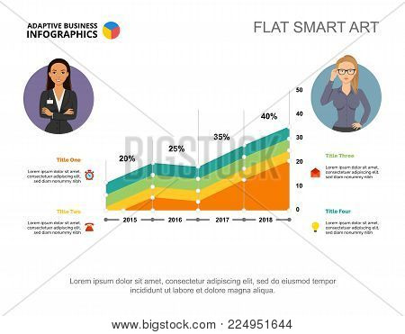 Four area charts. Business data. Comparison, point, design. Creative concept for infographic, templates, presentation. Can be used for topics like analysis, recruitment, research.