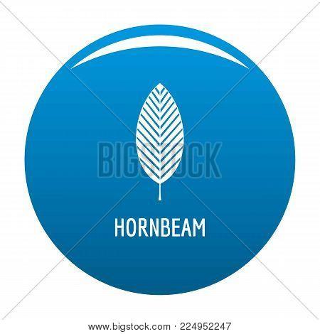 Hornbeam leaf icon vector blue circle isolated on white background