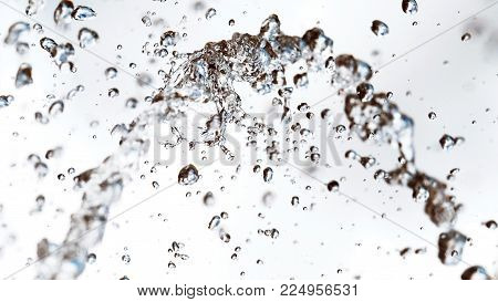 Water splash as background / Water is a transparent and nearly colorless chemical substance that is the main constituent of Earth's streams, lakes, and oceans, and the fluids of most living organisms.