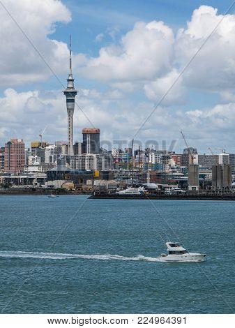 Auckland City Skyline, New Zealand