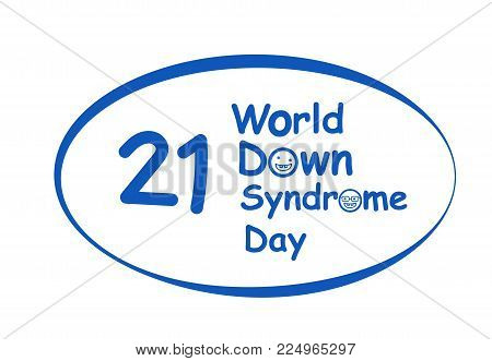 World down syndrome day logo in vector art design