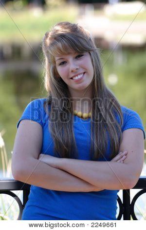 Teenage Girl In Blue