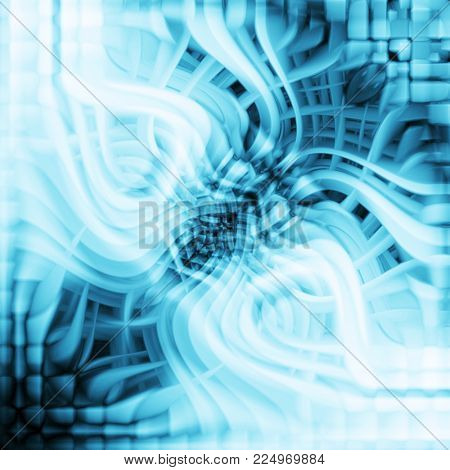 abstract background of curved squares and stripes