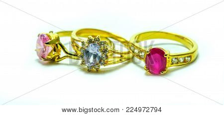 Gold Ring With Jewels A Cute Jewelry From Nature (jewels)