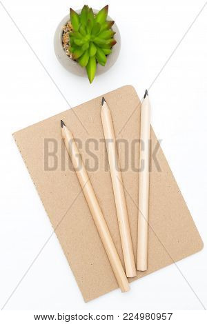 Stationery on a white background. Vertical photo