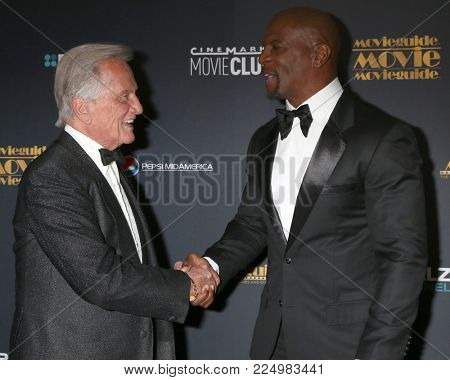 LOS ANGELES - FEB 2:  Pat Boone, Terry Crews at the 26th MovieGuide Awards at the Universal Hilton Hotel on February 2, 2018 in Universal City, CA