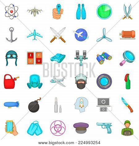 Draft icons set. Cartoon set of 36 draft vector icons for web isolated on white background