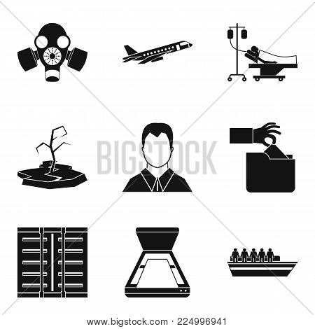 Consequence of war icons set. Simple set of 9 consequence of war vector icons for web isolated on white background
