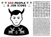 Dolor Deers Pullover Horned Husband icon with 550 bonus pity and glad men clip art. Vector illustration style is flat black iconic symbols. poster