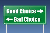 good choice - bad choice poster