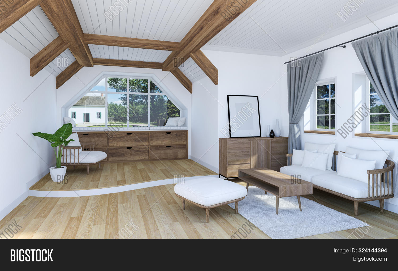 White Living Room Image Photo Free Trial Bigstock