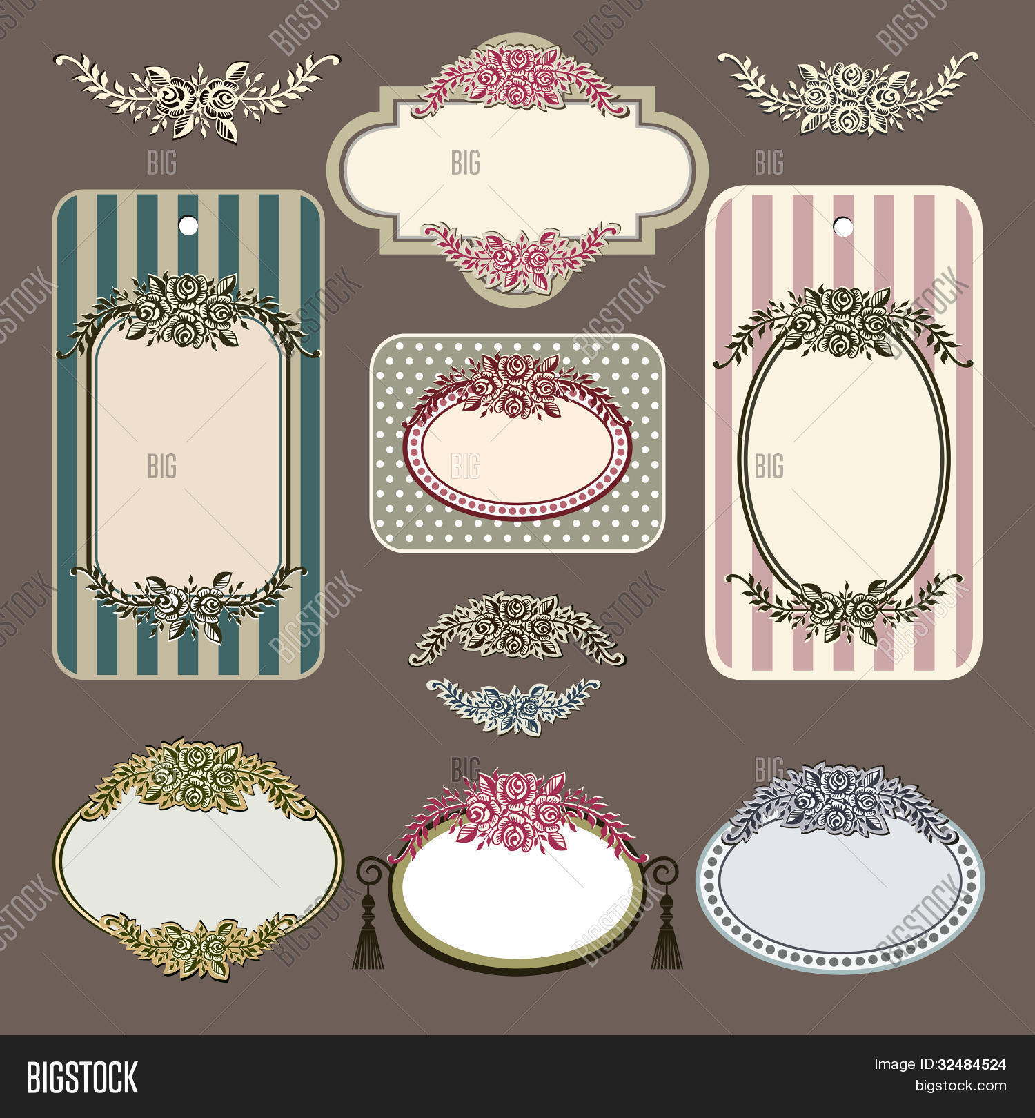set retro roses vector photo free trial bigstock. Black Bedroom Furniture Sets. Home Design Ideas