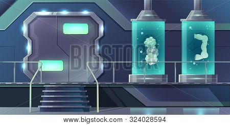 Human Internal Organs Cloning Cartoon Concept. Pancreatic, Thyroid Glands, Intestines Or Digestive S