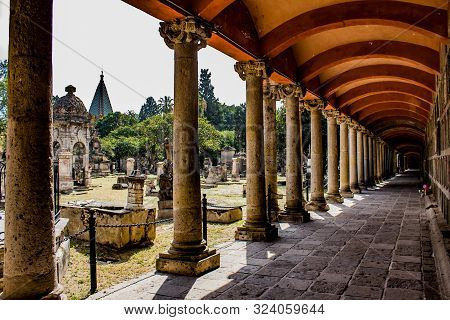 Side Aisle And Large And Small Tombs Of The Cemetery Of Belen, A Magical And Mysterious Day Full Of