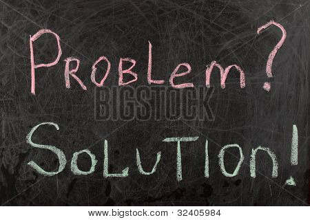 Problem And Solutions Sign
