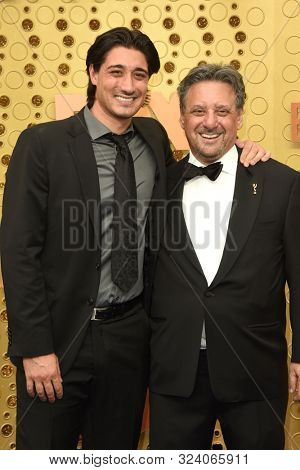 LOS ANGELES - SEP 22:  Nick Shurma, Frank Shurma at the Primetime Emmy Awards - Arrivals at the Microsoft Theater on September 22, 2019 in Los Angeles, CA