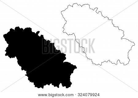 Pernik Province (republic Of Bulgaria, Provinces Of Bulgaria) Map Vector Illustration, Scribble Sket