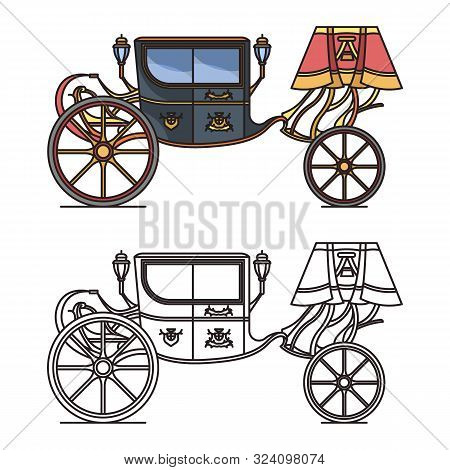 Retro Carriage For Wedding Or Vintage Chariot