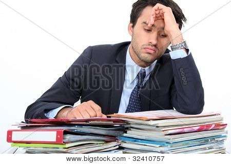 Stressed young professional