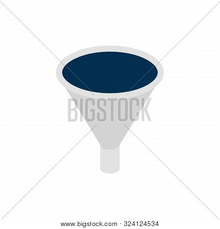 Business Funnel Isometric Object. Vector Illustration of Sign Isometry. poster