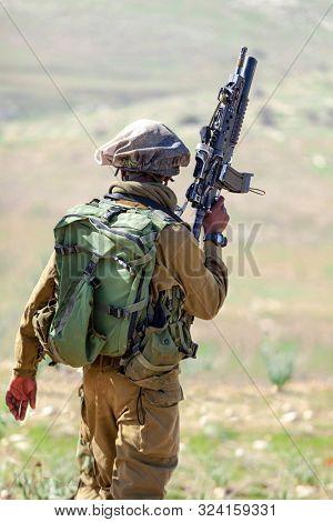 Israeli Soldiers Training, Israel Defense Forces-  Israeli army military combat training, June, 2018, Israel