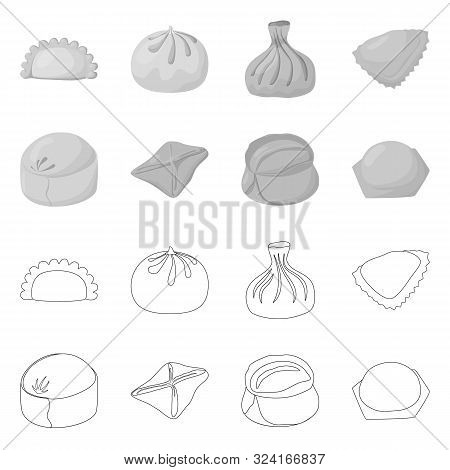 Isolated Object Of Products And Cooking Sign. Collection Of Products And Appetizer Stock Vector Illu