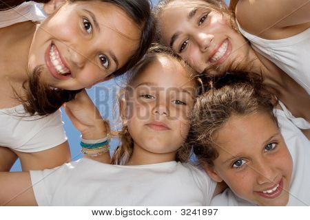 Happy Smiling Group Of Kids