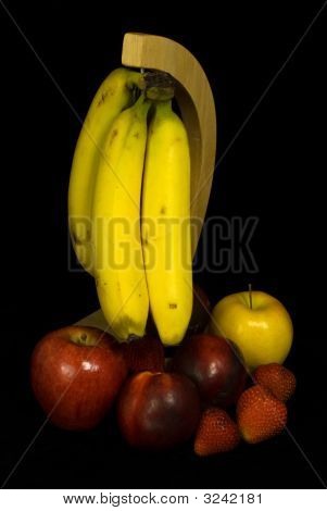 Fruit On Black Background