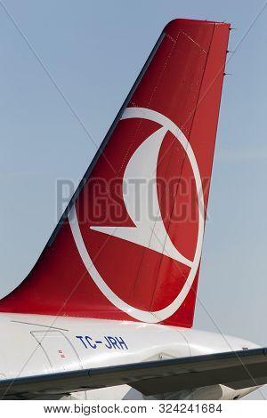Borispol, Ukraine - September 10, 2019: A Part Of Tc-jrh Turkish Airlines Airbus A321-200 Aircraft W