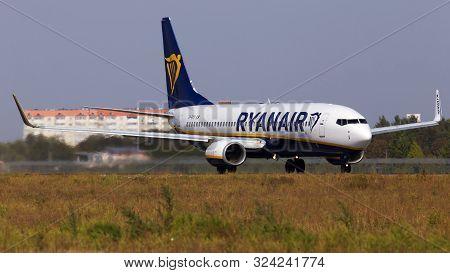 Borispol, Ukraine - September 10, 2019: Ei-eko Ryanair Boeing 737-800 Aircraft Departing From The Bo