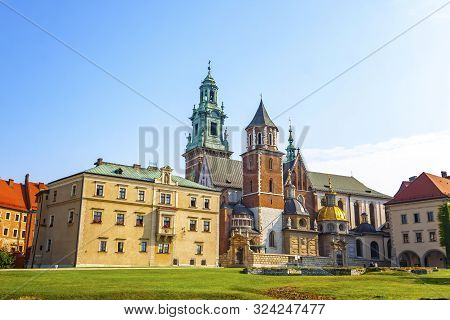 poster of Wawel Royal Castle complex in Krakow, Poland. It is the most historically and culturally important site in Poland