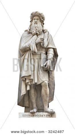 Leonardo Da Vinci Statue Cutout