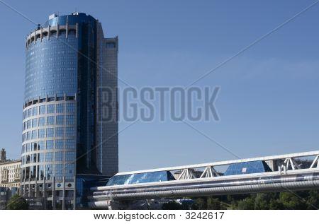 Pedestrian Bridge Bagration And Tower 2000