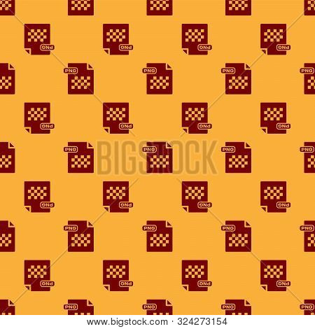 Red Png File Document. Download Png Button Icon Isolated Seamless Pattern On Brown Background. Png F