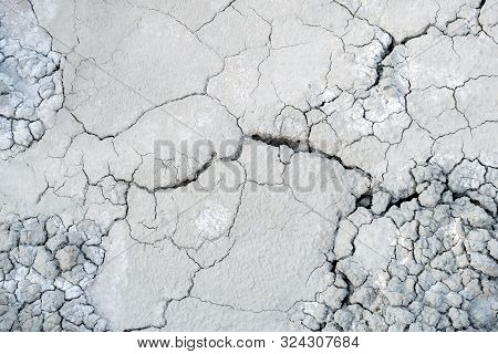 Dry Land Cracks Grey Gray Grayscale Earth Ground Dried Cracking Background Landscape Terraine Hilly