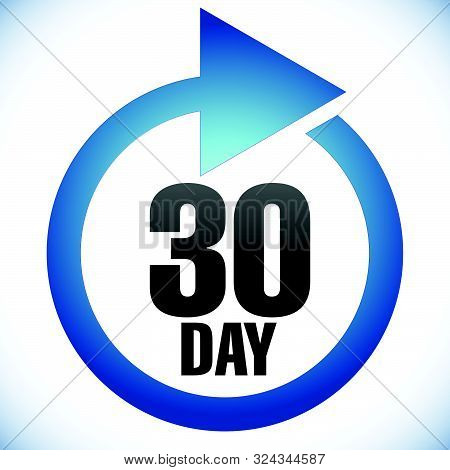 30 Day Turnaround Time (tat) Icon. Interval For Processing, Return To Customer. Duration, Latency Fo