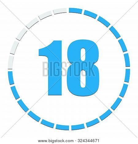 1-24 Sectioned Indicator Circular Chart, Graph. Circle With 24 Segments, Sections Info-graph Element