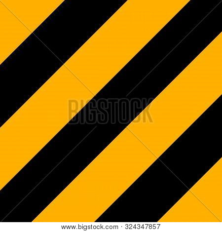 Halloween Pattern Of Repetitive Slanting Strips Of Black And Orange Color. Black And Orange Slanting