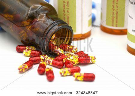 Pellets In Transparent Hard Gelatin Capsule.